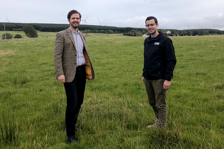 Robin Winstanley and Alan Wells of Banks Renewables on site